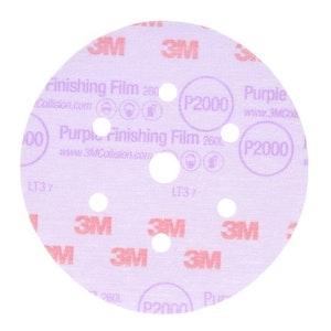 3M Purple Finishing Film Disc P600- P2000 - Packs of 50