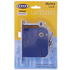 Brava Urban replacement Lane 1000 mortice lock in satin chrome plate finish