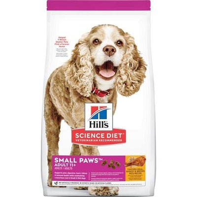 Hills Hill's Science Diet Adult Small Paws Senior 11+ Dry Dog Food 2.04kg