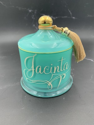 MoeJoe Creations Personalised Deluxe Soy Scented Custom Candles in Large Victoria Jar with Wood Wick