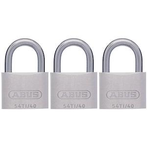 ABUS 54TI40TRIPLE- Keyed Alike Triple Pack Tilalium Padlocks