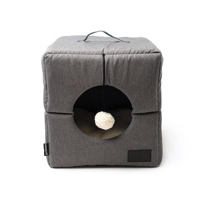 La Doggie Vita Water Resistant Nordic Foldable Grey Cat Cube