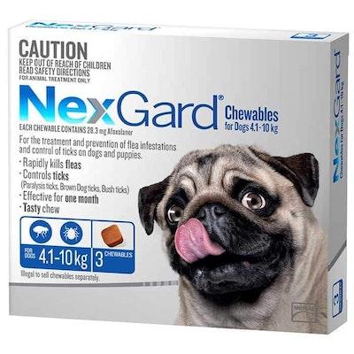 NexGard Flea & Tick Treatment 4.1-10kg Dog