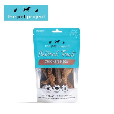 The Pet Project Natural Treats Chicken Neck 100g