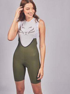 Taba Fashion Sportswear Pantaloneta de Ciclismo ELITE Seamless Olive Mujer