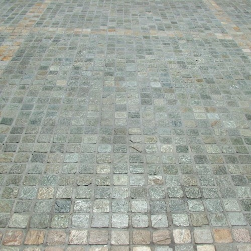 Porphyry Grey Green Cobbles Flagstone Pavers For Sale In