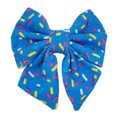 Swanky Paws Blue Sprinkles Sailor Bow