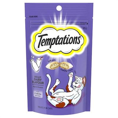 TEMPTATIONS High Protein Cat Treats Creamy Dairy 6 x 85g