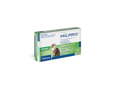 Milpro Broad Spectrum Allwormer Cat 2kg - 8kg 2 Tablets