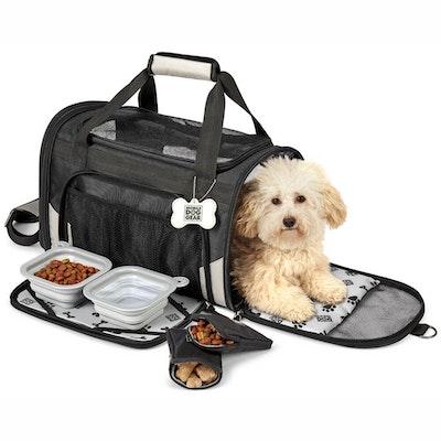 Mobile Dog Gear Pet Carrier Plus - Gray Color