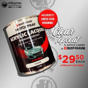 Motospray Acrylic Lacquer - Clear Topcoat 1L