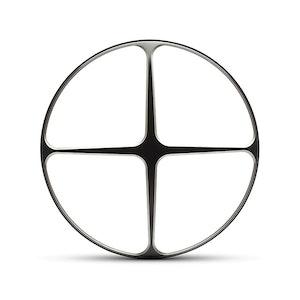 "7"" Metal Cross Design Grill - Black Contrast Cut"