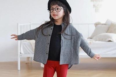 Black Stripes Shirt (6mths-4yrs old)