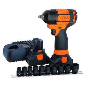 "Impact Wrench Kit Cordless 16v 3/8""Dr Low Vibration SPMax SP81120"