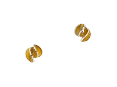 Small yellow gold spiral studs