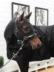 Diamond Deluxe Horsewear Summer Stretch Zip Hoods - Black
