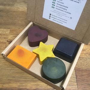 Eco Crayons 2D Shapes - 100% Natural, Plant Based Crayons