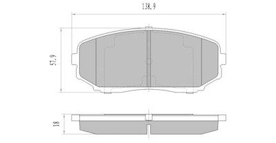 FULL SET FRONT & REAR GP MAX BRAKE PADS for Mazda CX-9 10/2007-7/2016 RDB2116