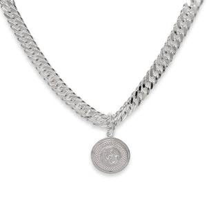 Breeze Curb Chain Necklace with Large Horseshoe Medallion