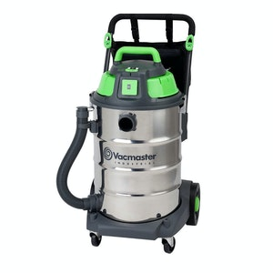 Vacmaster Wet / Dry Industrial Vacuum 60 litre 1600w Stainless Drum Sync Function