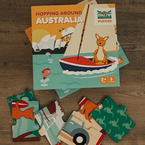 Mizzie the Kangaroo Mizzie Puzzle Box Set - Hopping Around Australia