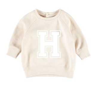 Personalised Varsity Jumper - Beige