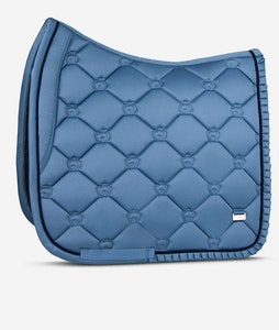 """PSOS DRESSAGE SADDLE PAD - SEA RUFFLE """"If not you, then who?"""""""