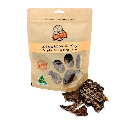 Bugsy Pet Supplies HEALTHY SNACKS | Dehydrated Australian Kangaroo Jerky Strips