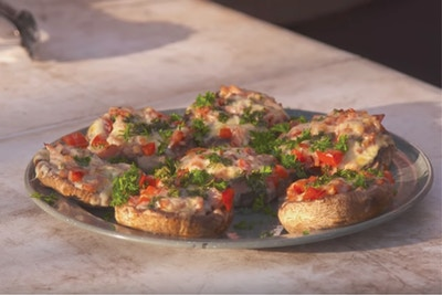 Mini Mushroom Pizzas - Cooking with All 4 Adventure