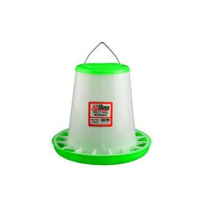 AGBOSS Green Straight Poultry Feeder - 4 Sizes