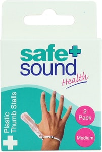 Safe + Sound Plastic Thumb Stalls Medium