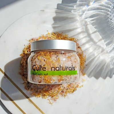Culte Skincare Sleepy Lemon & Lavender Luxury Natural Bath Salts | Epsom Salt Soak Pink Himalayan 450g