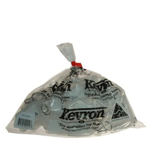 Kevron Clicktag key tags, clear in a bag of 50