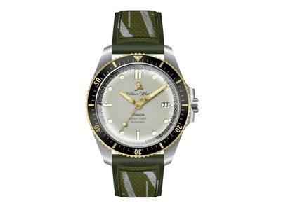 William Wood - Valiant Collection - The White Watch -  Japanese Movement