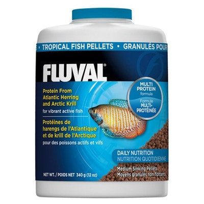 Fluval  Tropical Sinking Pellet Food  for Medium Fish