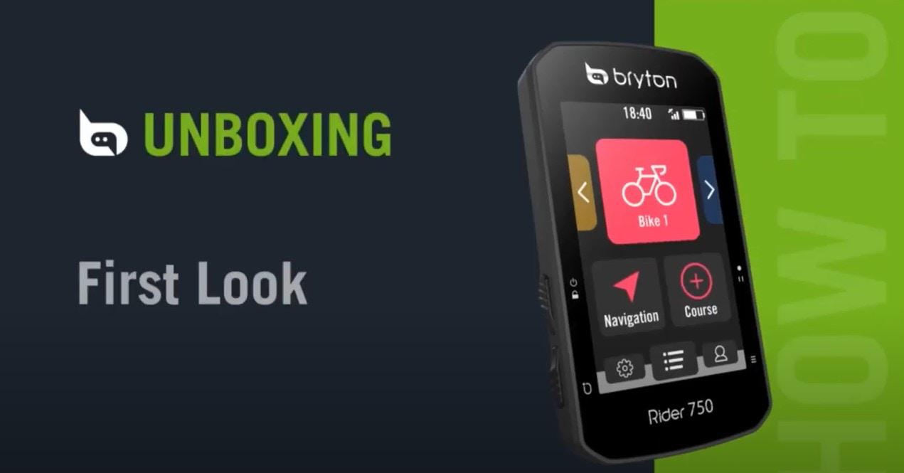 Bryton Rider 750   Unboxing