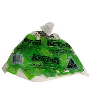 Kevron ID38 Easy Opening Plastic Key Tags – 50 Pack – Fluoro Green