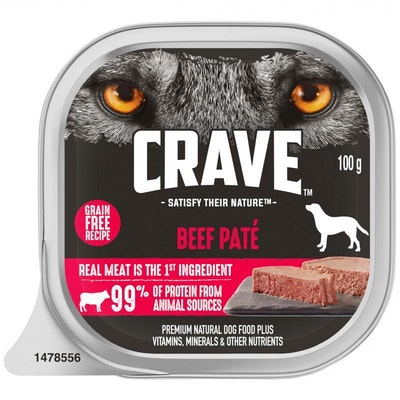 CRAVE Adult Beef Pate Wet Dog Food