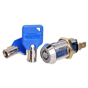 BDS Momentary Tubular Key Switch for access control, arcade & gaming applications