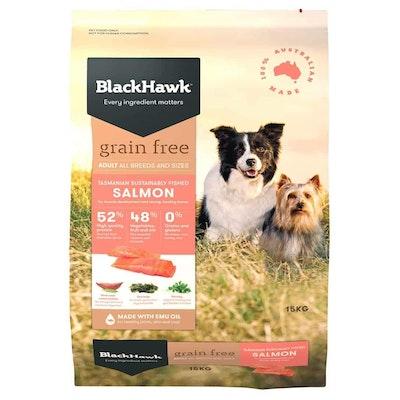 Black Hawk Grain Free Adult Salmon Dry Dog Food