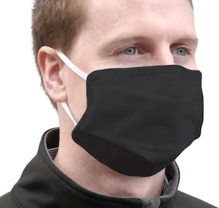 Boutique Medical TIGERPLAST Fabric Face Mask Washable Reusable Mask Protect Anti-Microbial Mouth Cover - Black