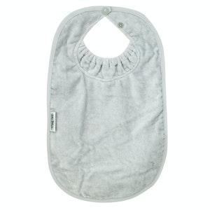 Silly Billyz XL Silver Towel Bib