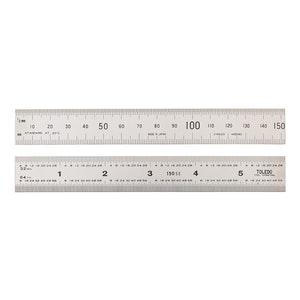 Toledo Stainless Steel Rule Double Sided Metric & Imperial - 150mm