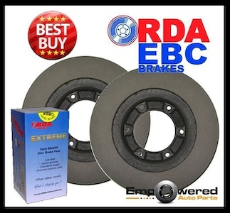 FRONT DISC BRAKE ROTORS+PADS for Toyota Landcruiser 40/50 Series 10/1982-10/1984