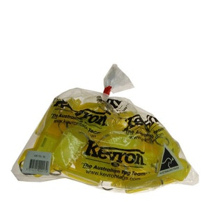 Kevron Clicktag key tags, yellow in a bag of 50