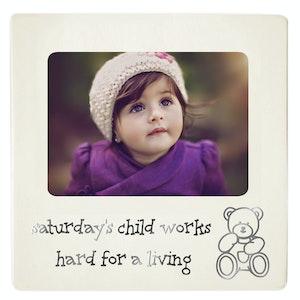 Dakota Baby Photo Frame Saturdays Child