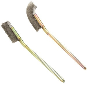 Stainless Steel Bristles Cleaning Brush Set 2 Pc