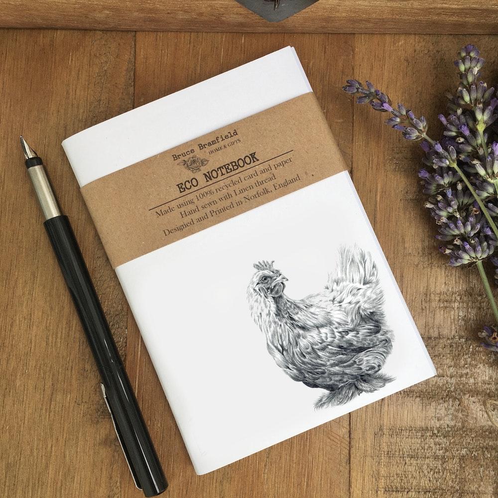Bruce Bramfield Chicken Eco Notebook (white Cover)