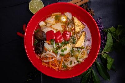 Zen Tea Lounge Vegan Spicy Noodle Soup