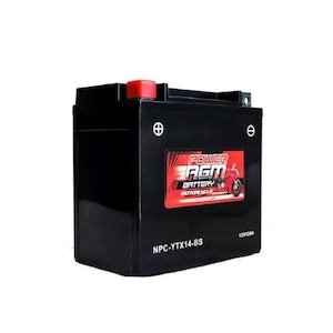 Power AGM 12V 12AH 230CCAs Motorcycle Battery
